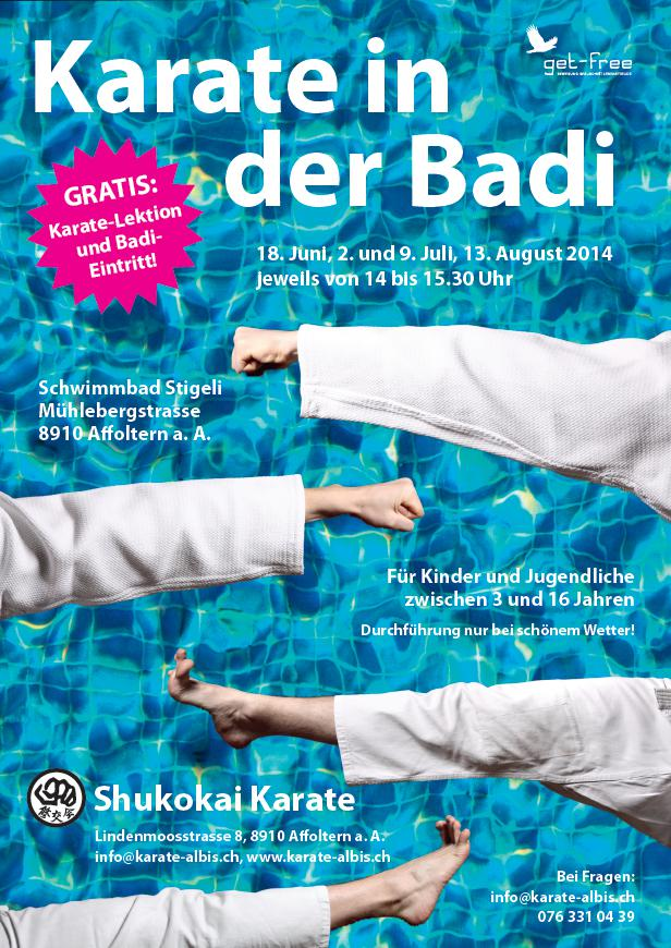Karate in der Badi Flyer